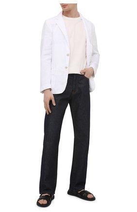 Мужской льняной пиджак 120% LINO белого цвета, арт. T0M8469/0253/000 | Фото 2