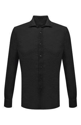 Мужская льняная рубашка 120% LINO черного цвета, арт. T0M1311/B317/000 | Фото 1