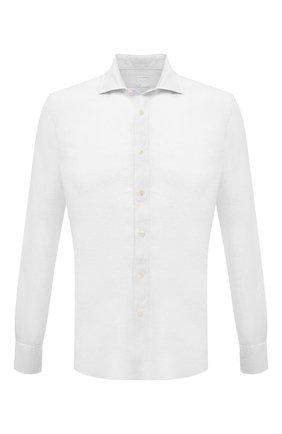 Мужская льняная рубашка 120% LINO белого цвета, арт. T0M1311/B317/000 | Фото 1