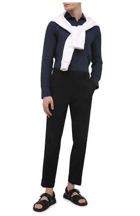 Мужская льняная рубашка 120% LINO темно-синего цвета, арт. T0M1311/B317/000 | Фото 2