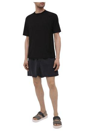 Мужские кожаные сандалии INUIKII серого цвета, арт. 50105-23 | Фото 2