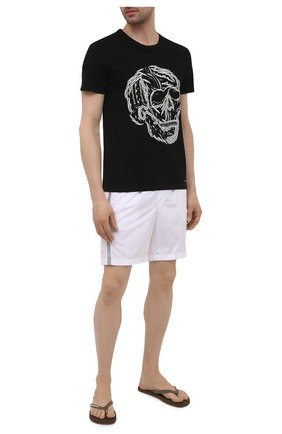 Мужские резиновые шлепанцы  DSQUARED2 коричневого цвета, арт. FFM0001 17200001 | Фото 2 (Материал внешний: Резина)