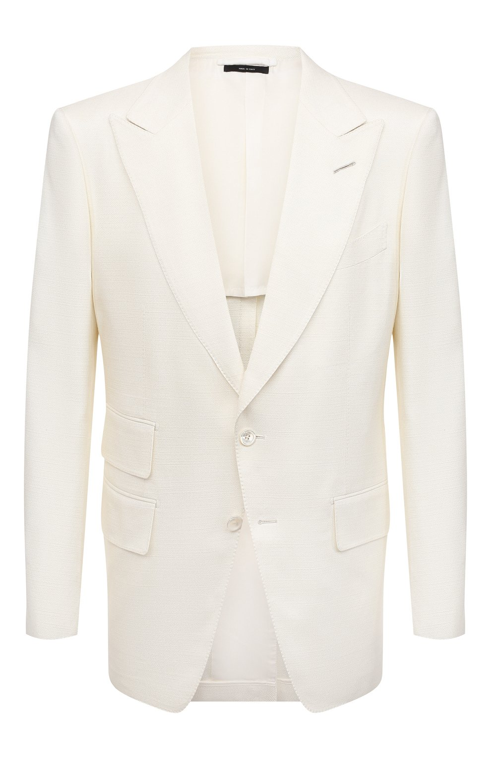 Мужской шелковый пиджак TOM FORD белого цвета, арт. 915R00/15ML40   Фото 1