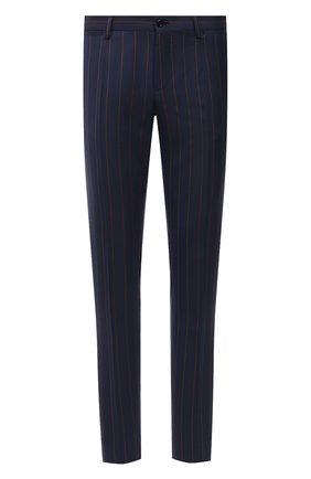 Мужские шерстяные брюки DOLCE & GABBANA синего цвета, арт. GY7BMT/FR2YH | Фото 1