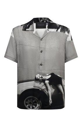Мужская рубашка из вискозы LIMITATO серого цвета, арт. HEADING/SH0RT SLEEVE HIRT   Фото 1