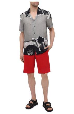 Мужская рубашка из вискозы LIMITATO серого цвета, арт. HEADING/SH0RT SLEEVE HIRT   Фото 2