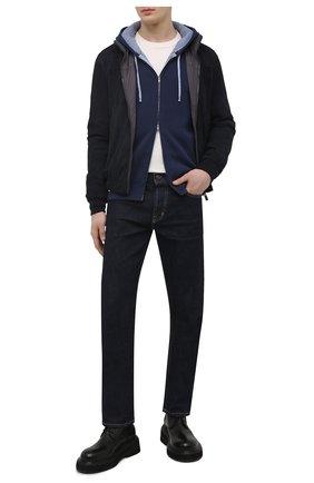 Мужской кардиган из хлопка и кашемира LUCIANO BARBERA темно-синего цвета, арт. 109N46/52103 | Фото 2