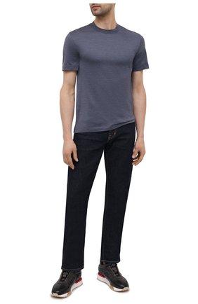 Мужские кожаные кроссовки SANTONI темно-серого цвета, арт. MSAM21413BBRMBDNG62 | Фото 2