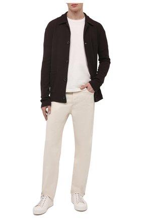 Мужской кардиган ASPESI темно-коричневого цвета, арт. S1 Q M375 5662 | Фото 2 (Длина (для топов): Стандартные; Материал внешний: Синтетический материал, Шерсть; Рукава: Длинные; Стили: Кэжуэл; Мужское Кросс-КТ: Кардиган-одежда)