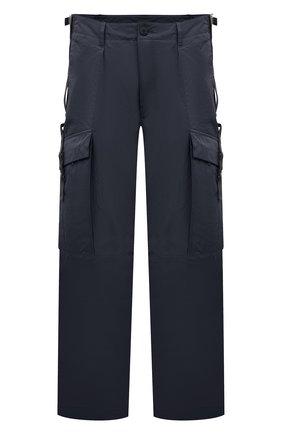 Мужские брюки-карго KAZUYUKI KUMAGAI темно-серого цвета, арт. AP11-210 | Фото 1 (Материал внешний: Синтетический материал; Длина (брюки, джинсы): Стандартные; Силуэт М (брюки): Карго; Случай: Повседневный; Стили: Минимализм)