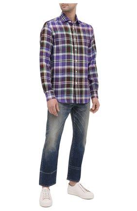 Мужская льняная рубашка RALPH LAUREN разноцветного цвета, арт. 790836053 | Фото 2