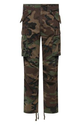 Мужские хлопковые брюки-карго RRL хаки цвета, арт. 782819175 | Фото 1