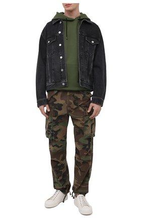 Мужские хлопковые брюки-карго RRL хаки цвета, арт. 782819175 | Фото 2