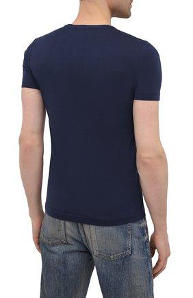 Мужская хлопковая футболка ICEBERG синего цвета, арт. 21E I1P0/F016/6301 | Фото 4 (Рукава: Короткие; Длина (для топов): Стандартные; Стили: Гранж; Принт: С принтом; Материал внешний: Хлопок)