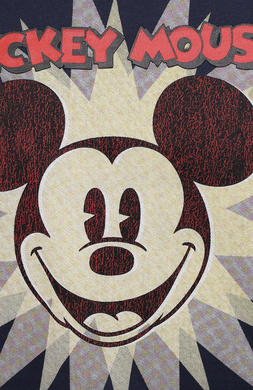 Мужская хлопковая футболка ICEBERG синего цвета, арт. 21E I1P0/F016/6301 | Фото 5 (Рукава: Короткие; Длина (для топов): Стандартные; Стили: Гранж; Принт: С принтом; Материал внешний: Хлопок)