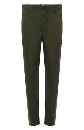 Мужские хлопковые брюки TRANSIT хаки цвета, арт. CFUTRNC120 | Фото 1 (Длина (брюки, джинсы): Стандартные; Материал внешний: Хлопок; Случай: Повседневный; Стили: Кэжуэл; Силуэт М (брюки): Чиносы)
