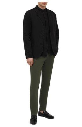 Мужские хлопковые брюки TRANSIT хаки цвета, арт. CFUTRNC120 | Фото 2 (Длина (брюки, джинсы): Стандартные; Материал внешний: Хлопок; Случай: Повседневный; Стили: Кэжуэл; Силуэт М (брюки): Чиносы)