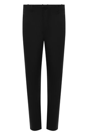 Мужские хлопковые брюки TRANSIT черного цвета, арт. CFUTRNC120 | Фото 1 (Длина (брюки, джинсы): Стандартные; Материал внешний: Хлопок; Случай: Повседневный; Стили: Кэжуэл; Силуэт М (брюки): Чиносы)
