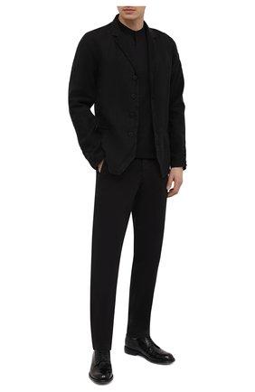 Мужские хлопковые брюки TRANSIT черного цвета, арт. CFUTRNC120 | Фото 2 (Длина (брюки, джинсы): Стандартные; Материал внешний: Хлопок; Случай: Повседневный; Стили: Кэжуэл; Силуэт М (брюки): Чиносы)