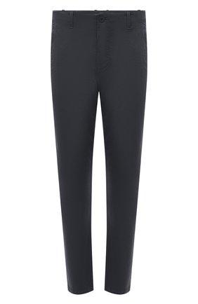 Мужские хлопковые брюки TRANSIT темно-серого цвета, арт. CFUTRNC120 | Фото 1 (Материал внешний: Хлопок; Длина (брюки, джинсы): Стандартные; Случай: Повседневный; Стили: Кэжуэл; Силуэт М (брюки): Чиносы)