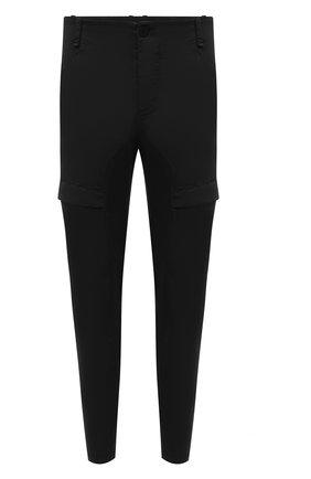 Мужские хлопковые брюки-карго TRANSIT черного цвета, арт. CFUTRNC122 | Фото 1 (Материал внешний: Хлопок; Длина (брюки, джинсы): Стандартные; Случай: Повседневный; Силуэт М (брюки): Карго; Стили: Кэжуэл)