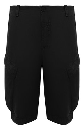 Мужские льняные шорты TRANSIT черного цвета, арт. CFUTRND133   Фото 1 (Длина Шорты М: Ниже колена; Материал внешний: Лен; Мужское Кросс-КТ: Шорты-одежда; Принт: Без принта; Стили: Кэжуэл)