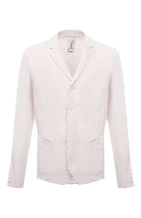 Мужской льняной пиджак TRANSIT белого цвета, арт. CFUTRND134 | Фото 1