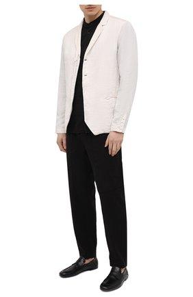 Мужской льняной пиджак TRANSIT белого цвета, арт. CFUTRND134 | Фото 2