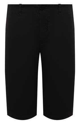 Мужские шорты из хлопка и вискозы TRANSIT черного цвета, арт. CFUTRNE142 | Фото 1 (Длина Шорты М: Ниже колена; Материал внешний: Хлопок, Вискоза; Мужское Кросс-КТ: Шорты-одежда; Принт: Без принта; Стили: Кэжуэл)