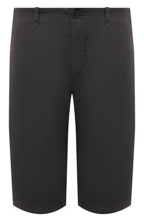 Мужские шорты из хлопка и вискозы TRANSIT темно-серого цвета, арт. CFUTRNE142 | Фото 1 (Длина Шорты М: Ниже колена; Материал внешний: Хлопок, Вискоза; Мужское Кросс-КТ: Шорты-одежда; Принт: Без принта; Стили: Кэжуэл)