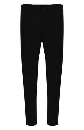Мужские брюки из хлопка и льна TRANSIT черного цвета, арт. CFUTRNH170 | Фото 1