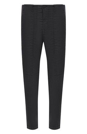 Мужские брюки из хлопка и льна TRANSIT темно-серого цвета, арт. CFUTRNH170 | Фото 1 (Материал внешний: Хлопок, Лен; Длина (брюки, джинсы): Стандартные; Случай: Повседневный; Стили: Кэжуэл)