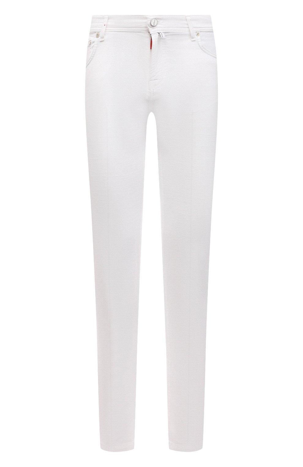 Мужские брюки KITON белого цвета, арт. UPNJSJ07T45   Фото 1