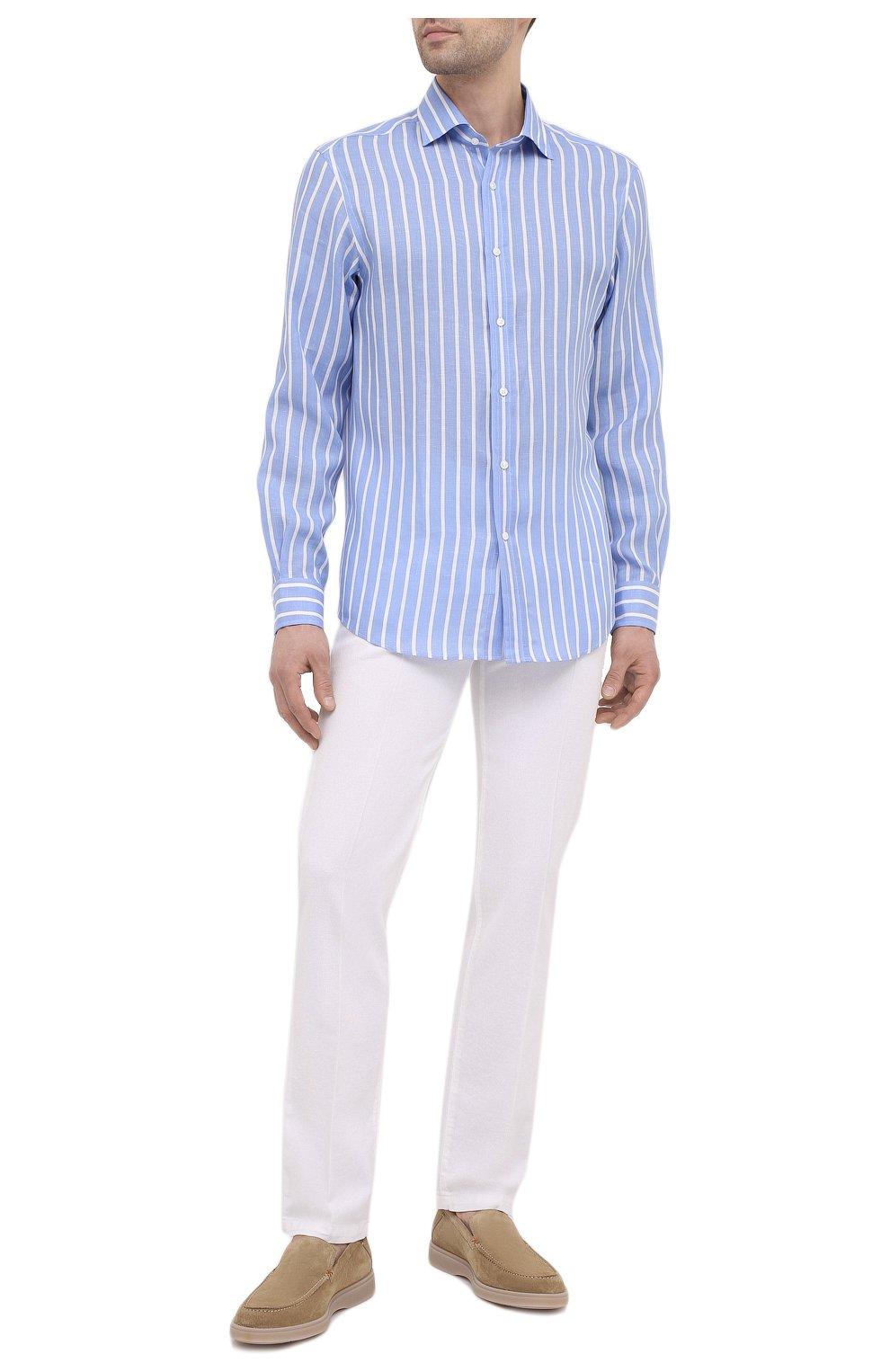 Мужские брюки KITON белого цвета, арт. UPNJSJ07T45   Фото 2