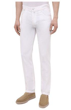 Мужские брюки KITON белого цвета, арт. UPNJSJ07T45   Фото 3