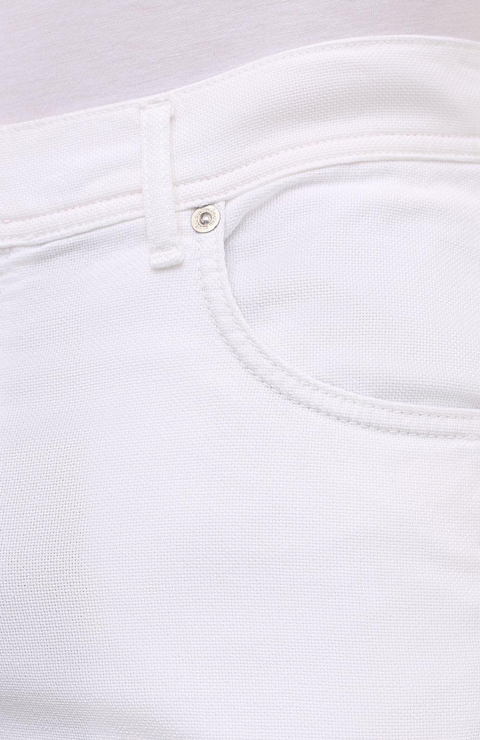 Мужские брюки KITON белого цвета, арт. UPNJSJ07T45   Фото 5