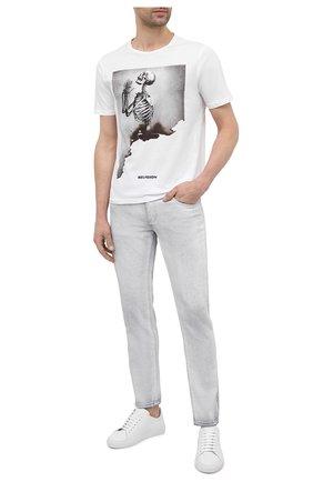 Мужская хлопковая футболка RELIGION белого цвета, арт. 11BBEN03   Фото 2