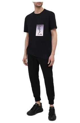 Мужская хлопковая футболка RELIGION черного цвета, арт. 11BCEN96   Фото 2