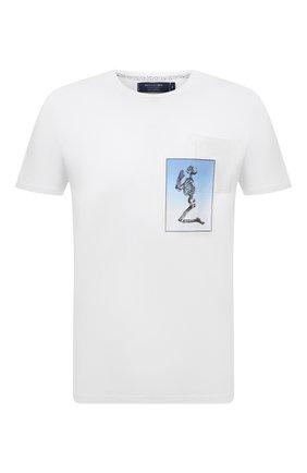 Мужская хлопковая футболка RELIGION белого цвета, арт. 11BCEN96   Фото 1 (Материал внешний: Хлопок; Длина (для топов): Стандартные; Рукава: Короткие; Принт: С принтом; Стили: Панк)