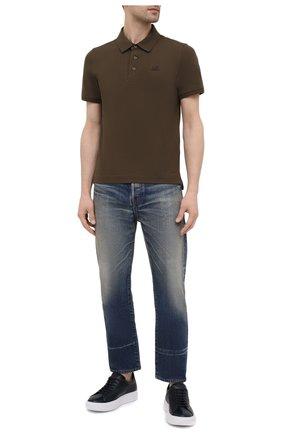 Мужское хлопковое поло C.P. COMPANY хаки цвета, арт. 10CMPL165A-005263W | Фото 2