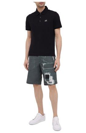 Мужское хлопковое поло C.P. COMPANY черного цвета, арт. 10CMPL165A-005263W | Фото 2