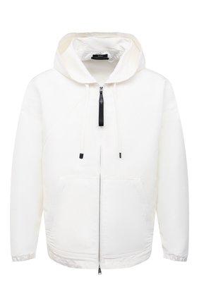Мужская куртка TOM FORD белого цвета, арт. BW087/TF0559 | Фото 1 (Материал внешний: Шелк, Синтетический материал; Рукава: Длинные; Длина (верхняя одежда): Короткие; Кросс-КТ: Куртка, Ветровка; Стили: Кэжуэл)