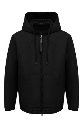 Мужская куртка TOM FORD черного цвета, арт. BW087/TF0559 | Фото 1 (Материал внешний: Синтетический материал, Шелк; Длина (верхняя одежда): Короткие; Рукава: Длинные; Кросс-КТ: Куртка, Ветровка; Стили: Кэжуэл)
