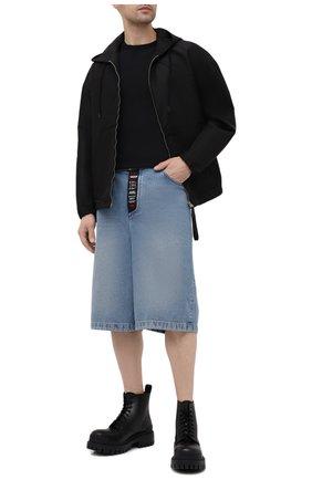 Мужская куртка TOM FORD черного цвета, арт. BW087/TF0559 | Фото 2 (Материал внешний: Синтетический материал, Шелк; Длина (верхняя одежда): Короткие; Рукава: Длинные; Кросс-КТ: Куртка, Ветровка; Стили: Кэжуэл)