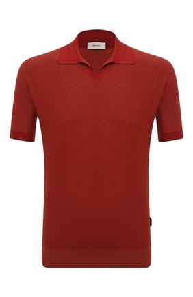 Мужское хлопковое поло Z ZEGNA красного цвета, арт. VWU11/ZZ135   Фото 1