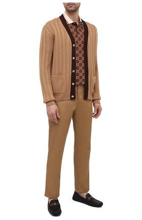 Мужские кожаные мокасины GUCCI черного цвета, арт. 648039/1XH30 | Фото 2 (Материал внутренний: Натуральная кожа; Стили: Кэжуэл)