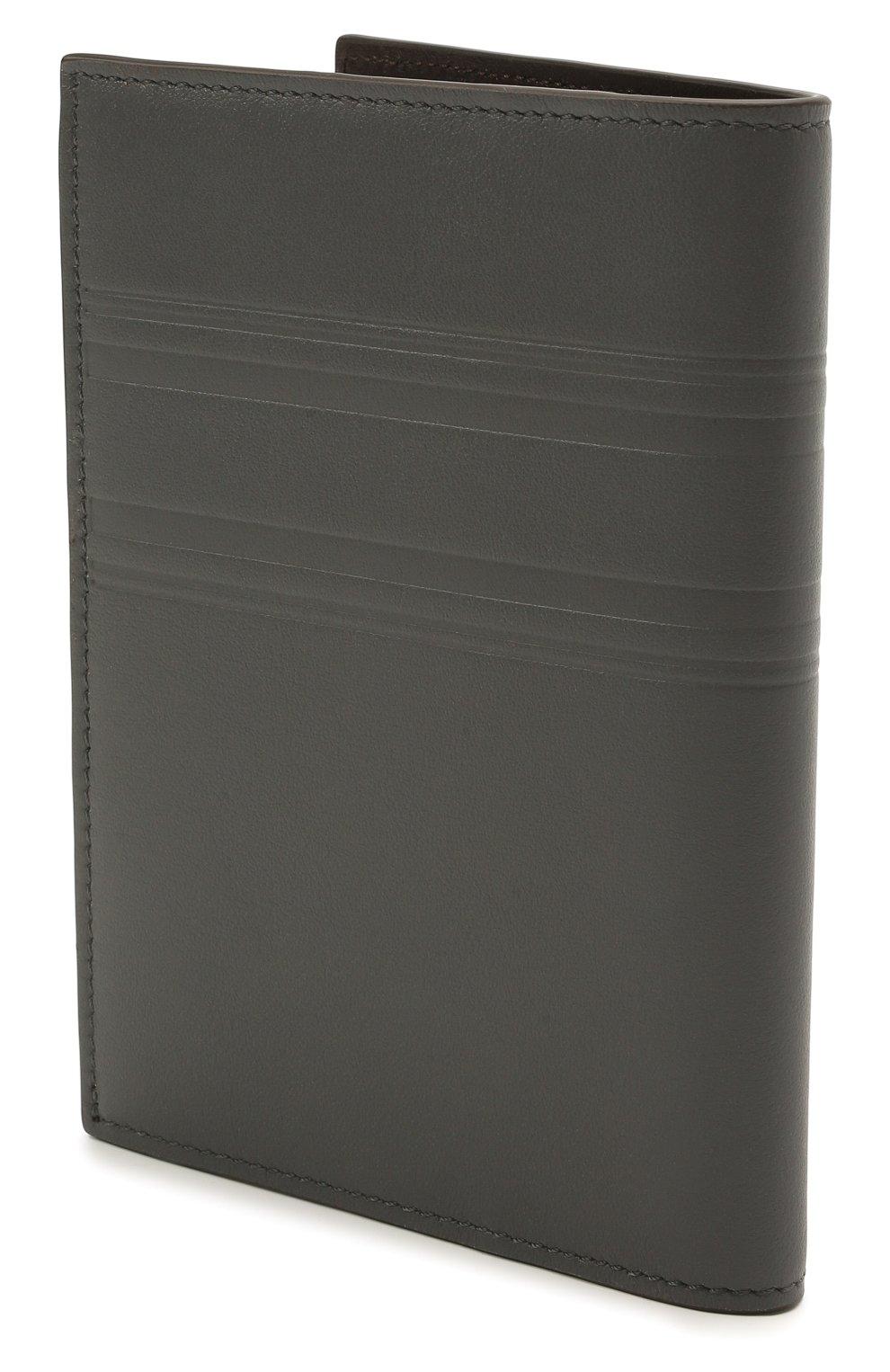 Мужской кожаная обложка для паспорта BRIONI серого цвета, арт. 0HSX0L/P9721 | Фото 2 (Кросс-КТ: обложки и футляры)