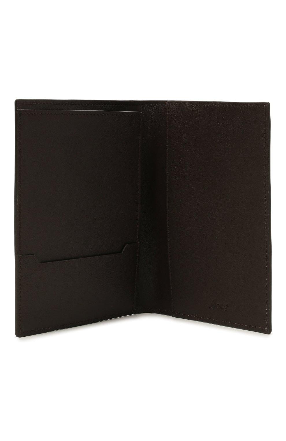Мужской кожаная обложка для паспорта BRIONI серого цвета, арт. 0HSX0L/P9721 | Фото 3 (Кросс-КТ: обложки и футляры)