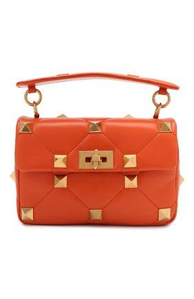 Женская сумка roman stud VALENTINO оранжевого цвета, арт. VW0B0I82/BSF   Фото 1 (Материал: Натуральная кожа; Размер: small; Ремень/цепочка: На ремешке; Сумки-технические: Сумки top-handle, Сумки через плечо)