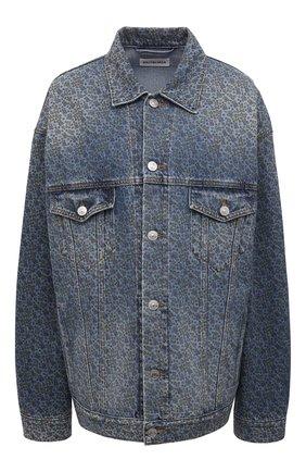 Женская джинсовая куртка BALENCIAGA голубого цвета, арт. 625993/TJW54 | Фото 1